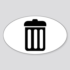 Trash bin Sticker (Oval)
